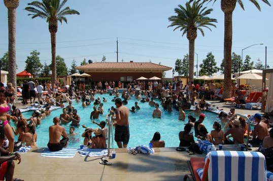 Thunder Valley Casino pool parties are awesome!