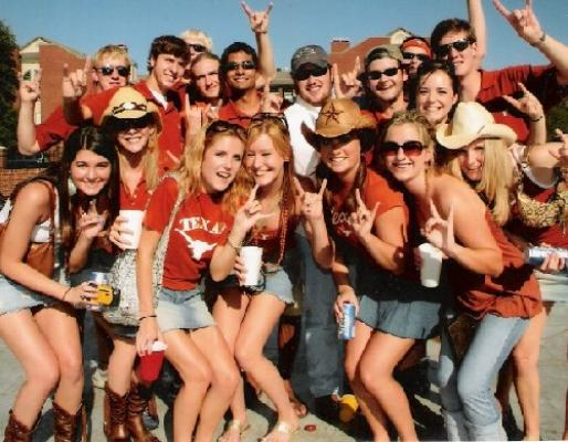 Girls drink and get crazy at country concert tailgate party