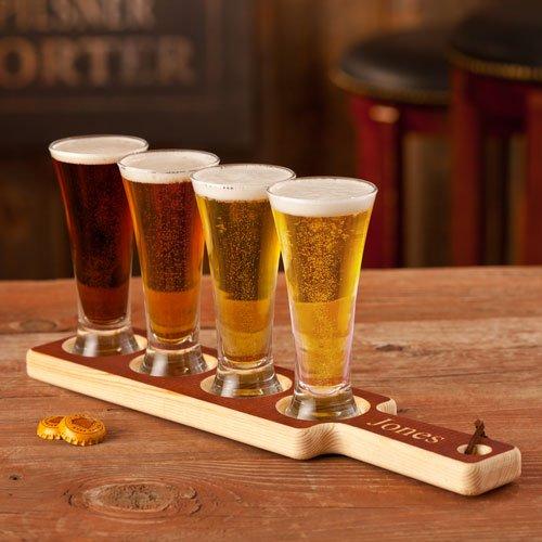 beer tasting flight of beers to sample