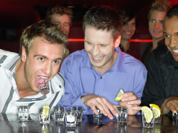 guys-night-out-limo-party-doing-shots